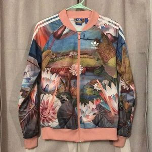 Adidas Original Pink Floral Jacket